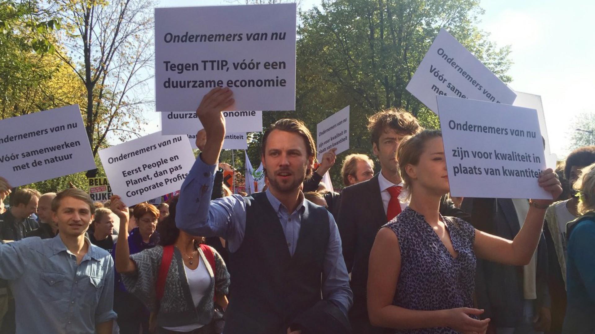 Tegen TTIP, vóór een duurzame economie